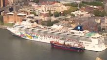 Cruise ship docked in Sydney Harbour denies reports of passenger tested for coronavirus