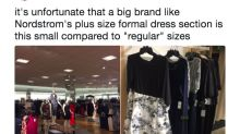 It's shocking how limited the plus-size formal selection is at Nordstrom
