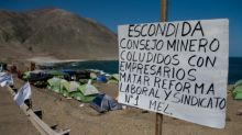 La huelga de mina Escondida en Chile cambia de escenario