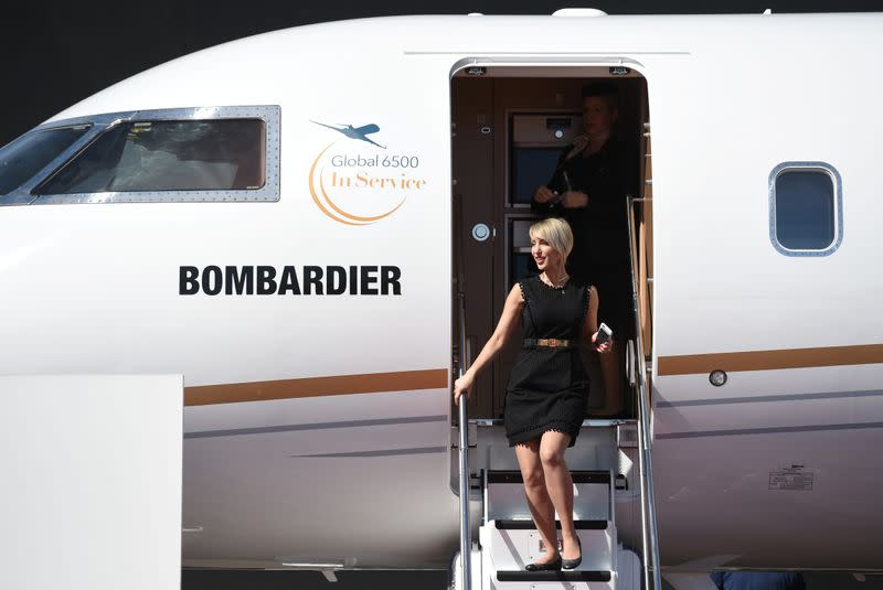 Bombardier sees higher deliveries of flagship jet, misses quarterly profit