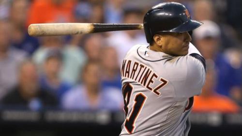 Tigers designated hitter Victor Martinez to undergo heart procedure that will end his season. (AP)
