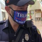 Miami officer facing discipline after wearing Trump mask while in uniform at polling place
