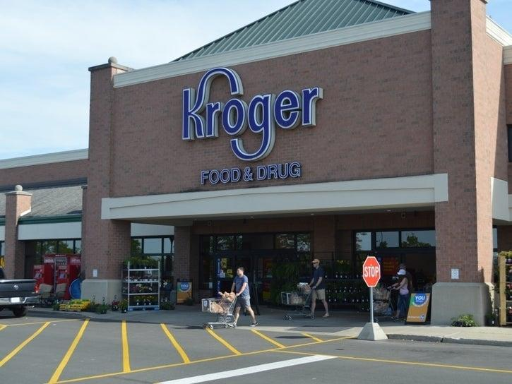 Atlanta police passed out Kroger gift cards near the now demolished Wendy's on University Avenue.