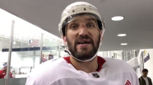 Ovechkin suffers injury scare during scrimmage, returns without incident