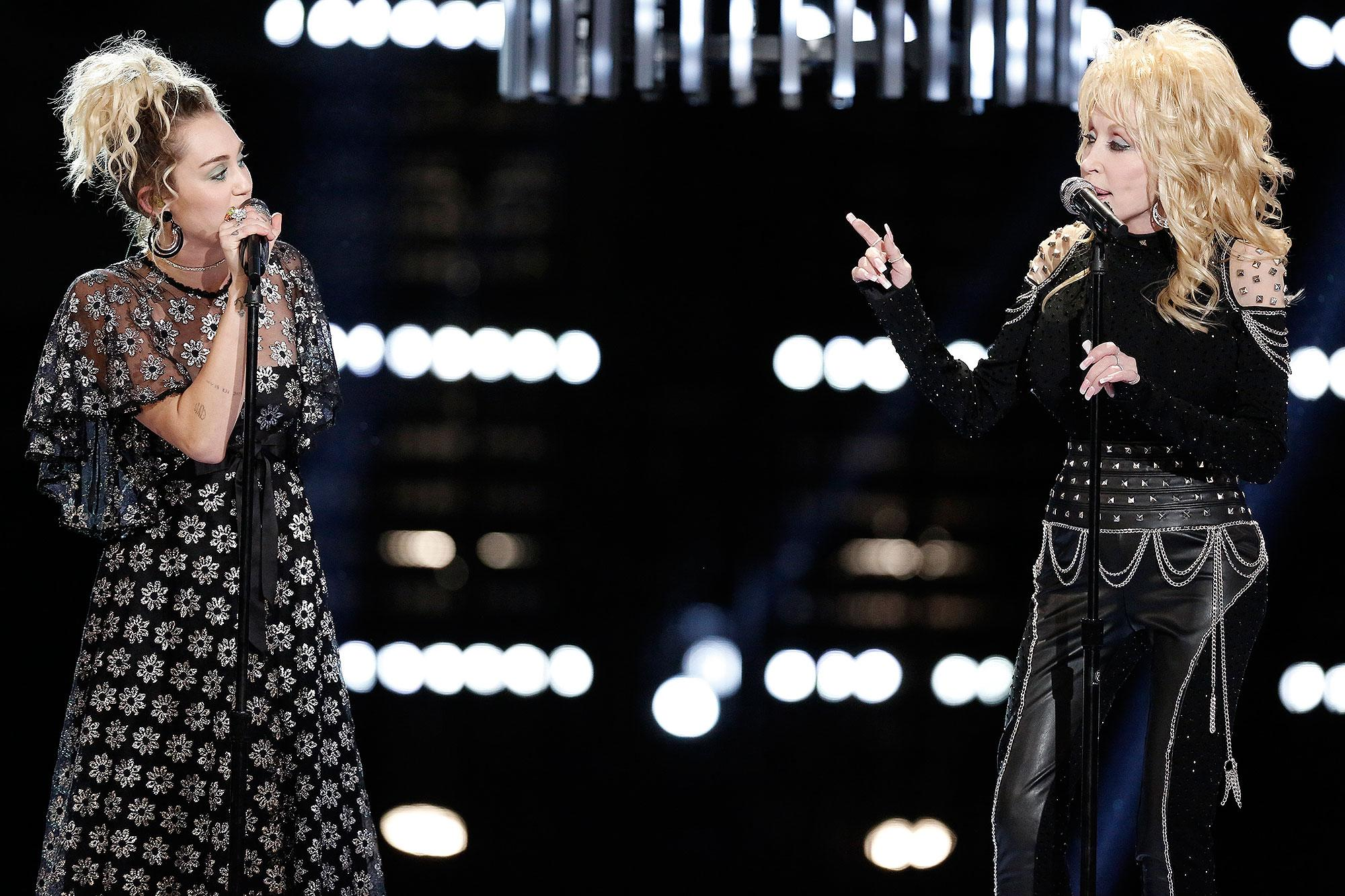 Miley Cyrus And Dolly Parton Unite With Pentatonix For Stunning Jolene Performance On The Voice