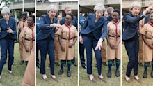 Theresa May has been dancing again - and the internet can't decide if it likes it or not