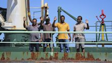 Ship hijacked and then freed by Somali pirates, at safe port