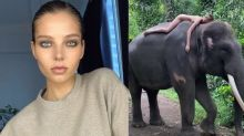 Instagram Influencer Sparks Outrage After Posing Naked on Top of Endangered Elephant in Bali