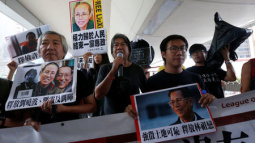 Independence banners hung at HK universities in defiance of China: media