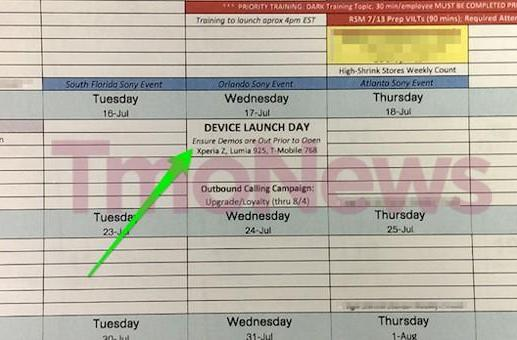 T-Mobile leak hints Lumia 925 and Xperia Z may launch on July 17th