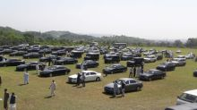 Pakistan's austerity car auction falls short, new PM Khan commutes by helicopter