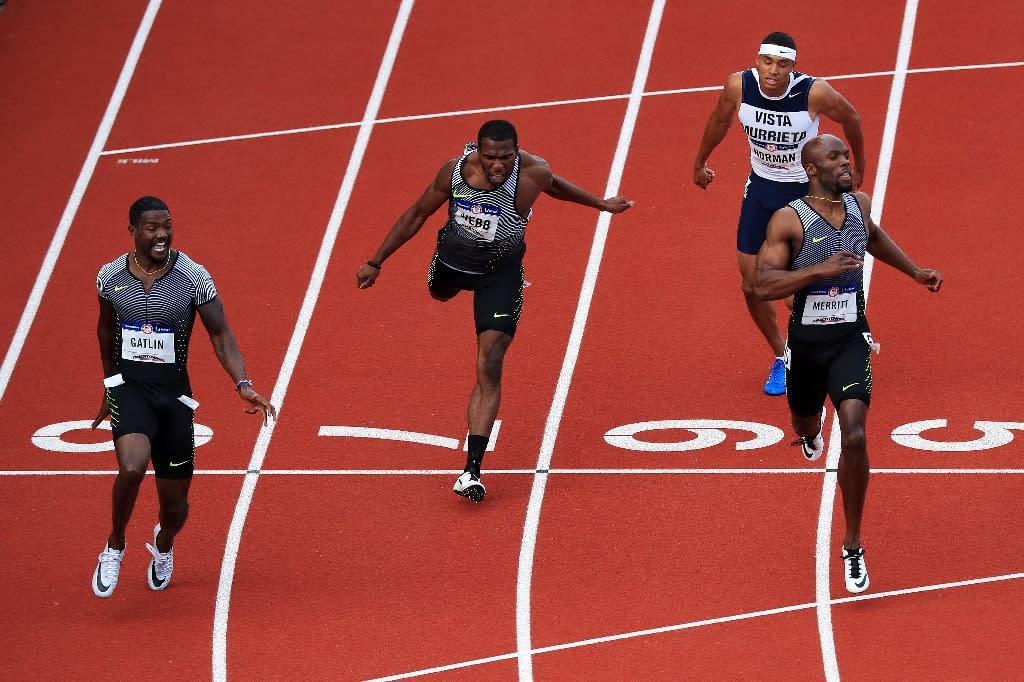 Gatlin lays down Olympic marker, Merritt dream over