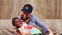 Bruno Gagliasso posta foto ao lado da filha Titi em bastidores de campanha