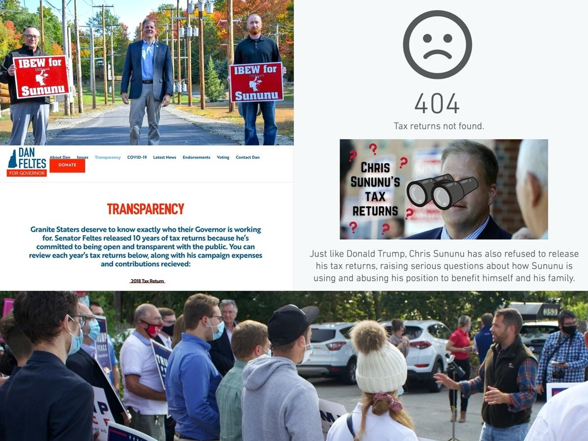 Gov. Chris Sununu was endorsed by the IBEW last week plus Democrats go after him for not releasing his tax returns and a Pence comes to Concord.