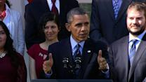 "Health care law itself ""working just fine,"" Obama says"