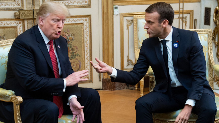 Trump rips Macron for denouncing nationalism