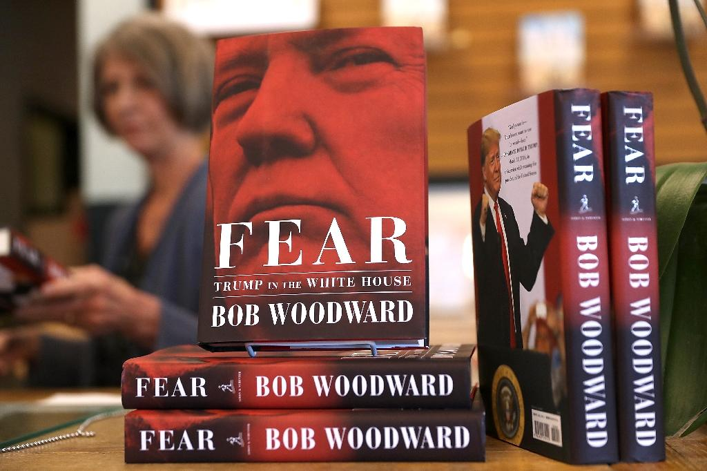 """The book """"Fear"""" by Washington Post journalist Bob Woodward is one of three books on the Trump presidency to sell more than one million copies (AFP Photo/JUSTIN SULLIVAN)"""