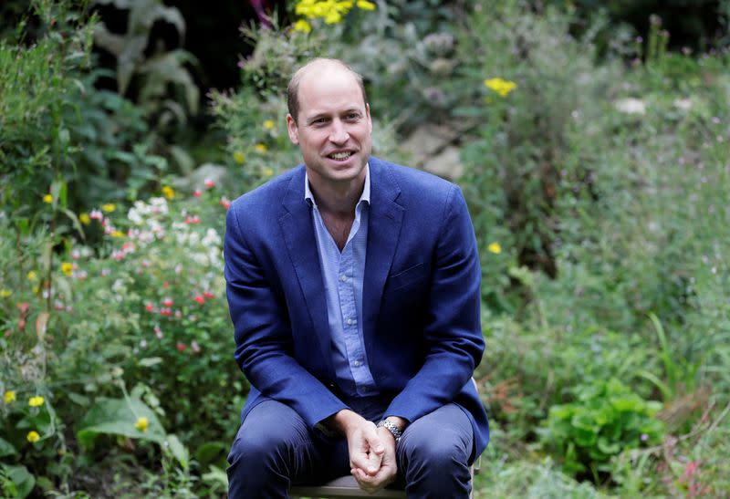Britain's Prince William recruits celebrities to launch global environment prize