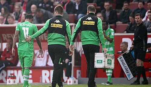 Bundesliga: Mönchengladbach: Raffael fällt mit Innenbanddehnung aus