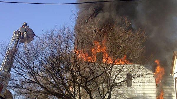 Stubborn fire in Yonkers apartment building