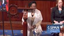 Congresswoman Takes A Knee On The House Floor To Protest Donald Trump's NFL Remarks