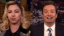 Madonna and Jimmy Fallon mouth swap on 'The Tonight Show'