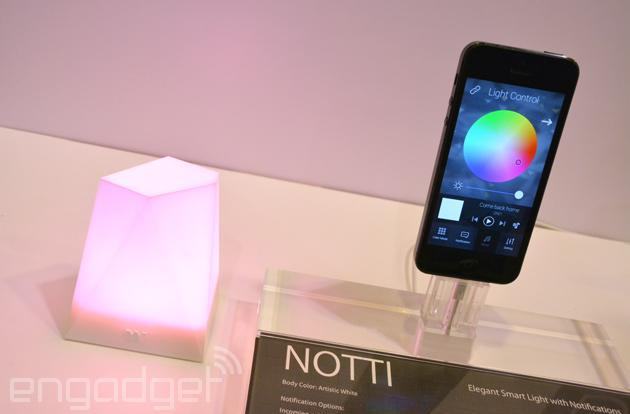 Notti smart light does notifications and wake-up calls with style