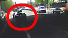 Driver admits dangerous driving after dashcam footage shows him swerve into a cyclist