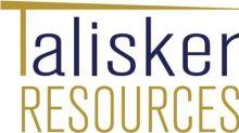 Talisker Provides Phase 1 Exploration Update, Identifies 17 Anomalous Gold Basins
