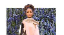 Rihanna—& Her Pink Mink Cape—Steal the Show at Dior