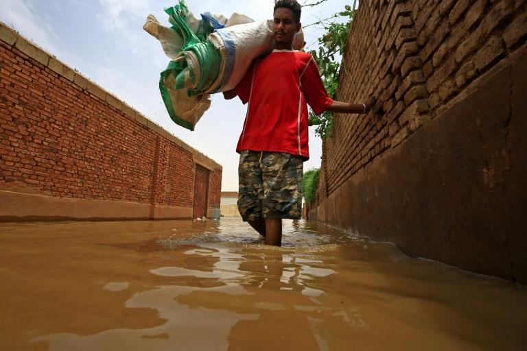 The Blue Nile water levels have risen to the highest since records began a century ago, swamping efforts to stop the river by building barrages of sand bags