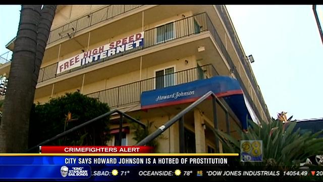 City says Howard Johnson is a hotbed of prostitution