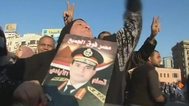 A show of support for Sisi in Tahrir Square