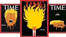 Trump's 'Year One' ignites on the cover of Time