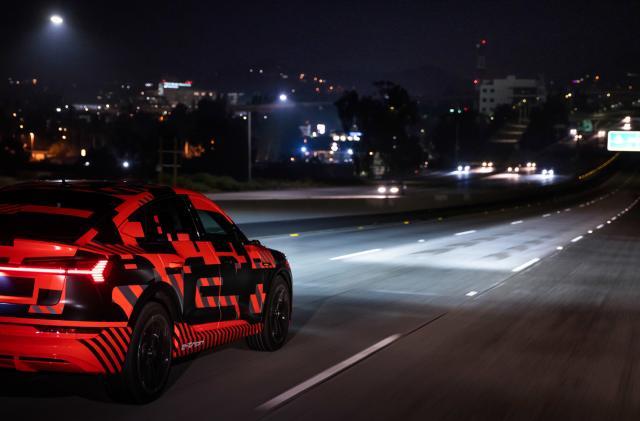 Audi's digital matrix LED headlights debut in the E-Tron Sportback