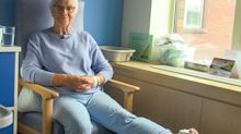 Pensioner and her leg treated at hospitals six miles apart