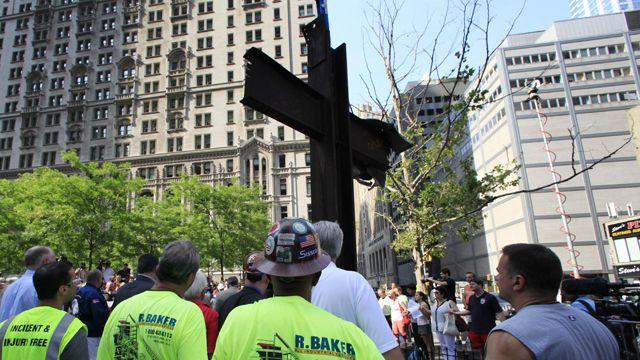 Atheist group sues over steel cross at 9/11 memorial