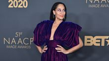Tracee Ellis Ross becomes the latest celebrity to master the viral 'quarantine pillow challenge'