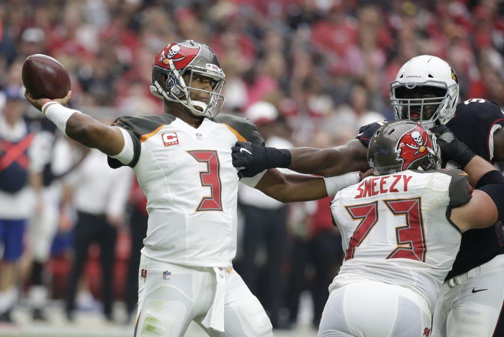 Tampa Bay Buccaneers quarterback Jameis Winston will start this week despite a shoulder injury. (AP)