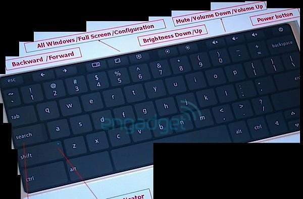 This is the Google Chrome OS netbook keyboard