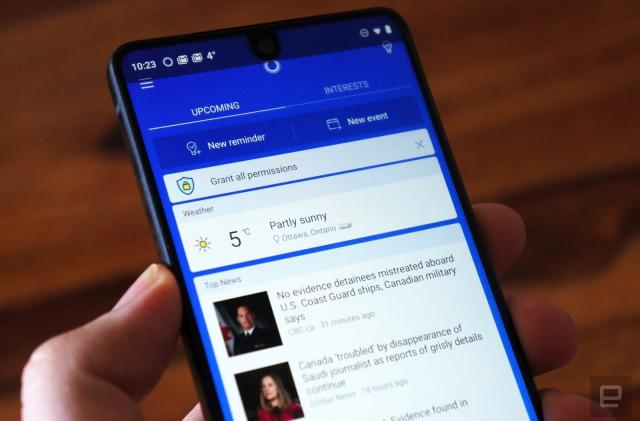 Microsoft's Cortana mobile beta adds conversational voice control