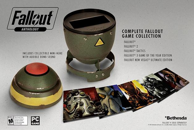 Bethesda's 'Fallout Anthology' collection comes in a mini nuke case