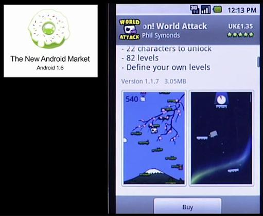 Android 1.6 makes Market refresh official, apps get screenshots at last
