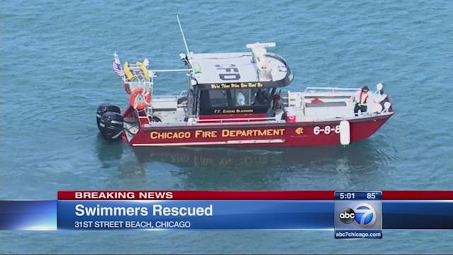 2 men pulled from Lake Michigan pronounced dead, officials said