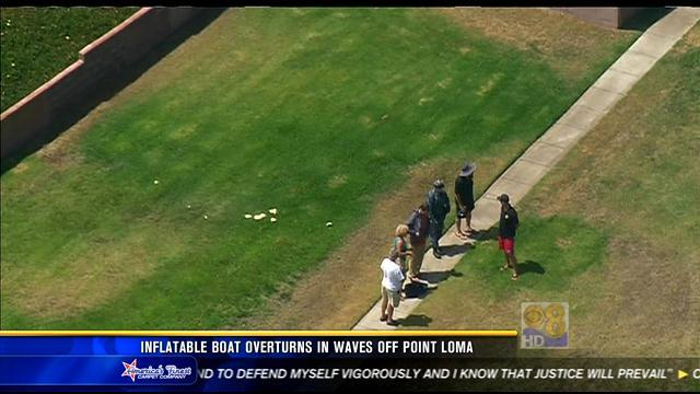5 rescued after dinghy capsizes off Point Loma