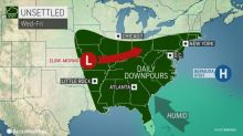 Wet weather tightens grip on eastern half of US this week