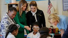 Melania Trump and Queen Rania of Jordan tour girls-only charter school