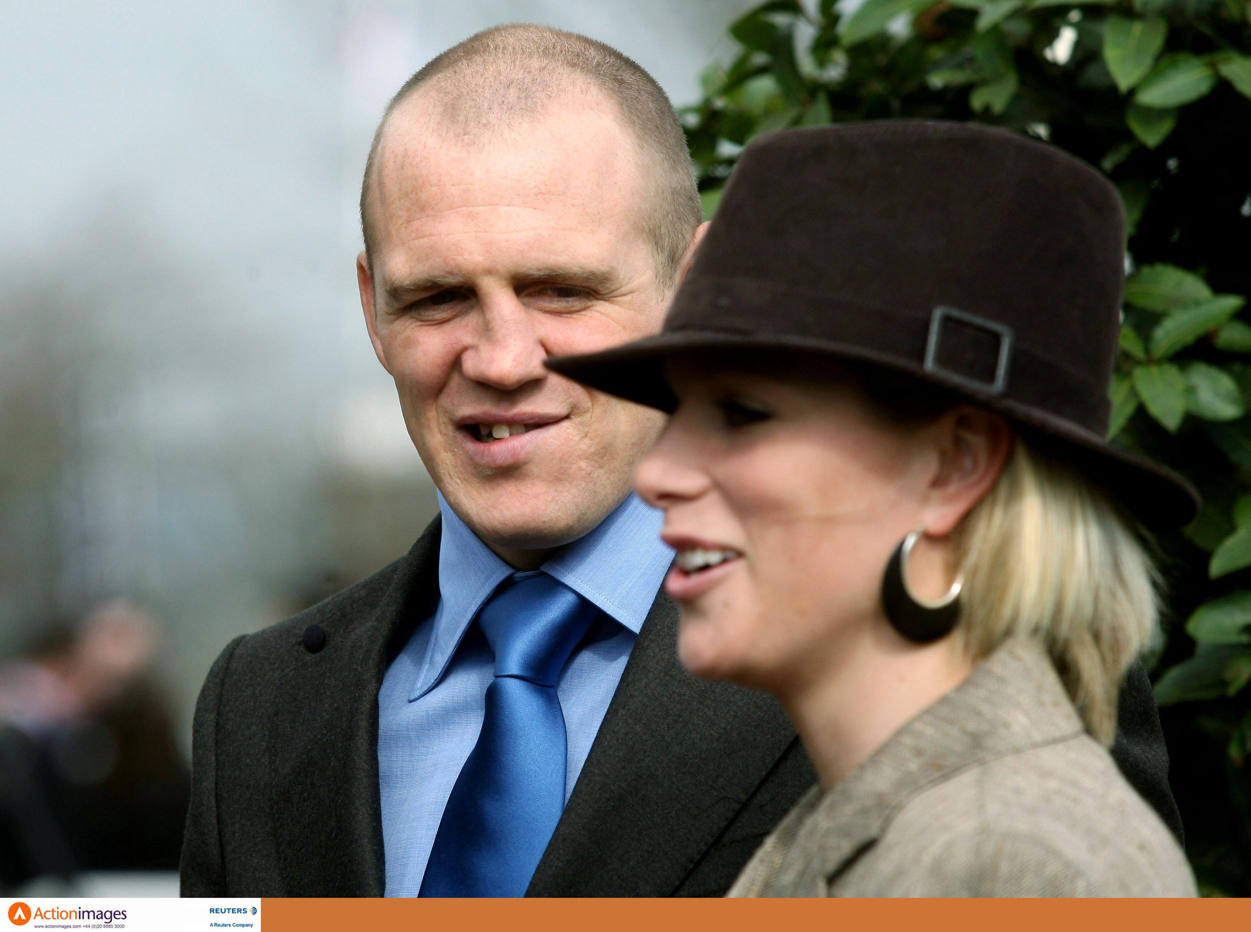 Horse Racing - Cheltenham Festival - Cheltenham Racecourse - 15/3/07  Zara Phillips and England rugby union player Mike Tindall  Mandatory Credit: Action Images / Scott Heavey  Livepic