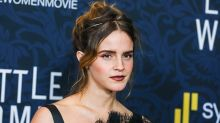 Emma Watson Wears Velvet Thigh-High Boots to the 'Little Women' Premiere