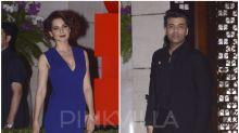 When Kangana Ranaut and Karan Johar avoided each other THRICE on the SAME night! … and Ranbir Kapoor avoided the actress at the AMBANI PARTY!